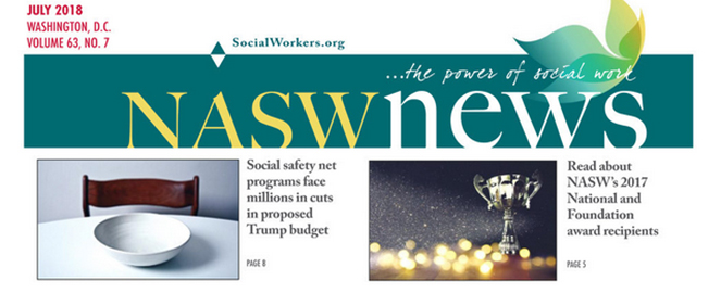 cover of NASW News from July 2018
